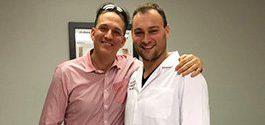 Adam Bookspan with Top Spine Surgeon Dr. Brusovanik