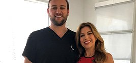 Spine Doctor Dr. Georgiy Brusovanik helps Ligia Granadis, Univision Meteorologist, without surgery. Call Miami Back & Neck Specialists at 305 587 2611 today.