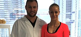 Dr. Brusovanik helps professional gymnast, Iryna Tsyrulnik. Miami Back & Neck Specialists is widely recognized as the leading center for treatment of scoliosis, sciatica and spinal cord compression.