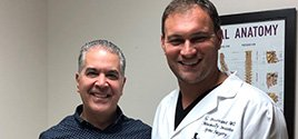 World famous plastic surgeon to the stars, Leoncio Moncada, comes to top Spine Doctor Dr. Georgiy Brusovanik for help with his neck. Call Miami Back & Neck Specialists today.