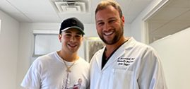 Dr. Brusovanik helps Austin Mahone, singer and song writer without surgery