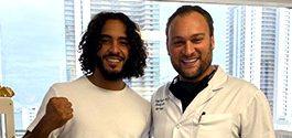MMA Phenom Shaheen Santana and Dr. Brusovanik