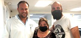 El-Pipita, Gonzalo Higuain, professional soccer player visits Miami spine surgeon